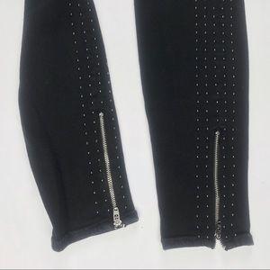 MOTHER Pants - Mother black stud zip ankle skinny pants size 29